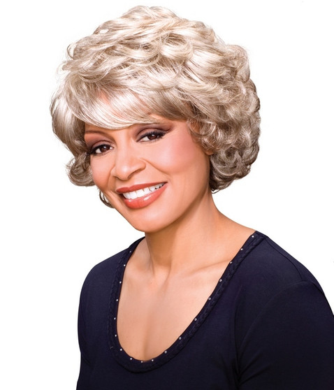 Foxy Silver Synthetic Wig  Lois