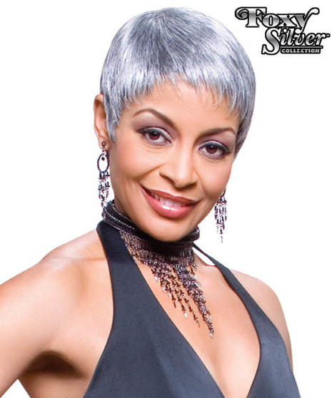 Foxy Silver Synthetic Wig Mary