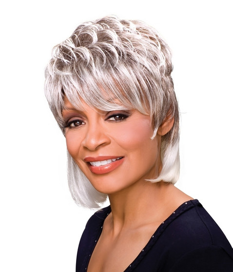 Foxy Silver Synthetic Wig Peggy