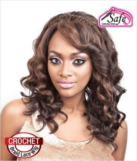 Isis Collection Red Carpet Braided Lace Front Wig Becky
