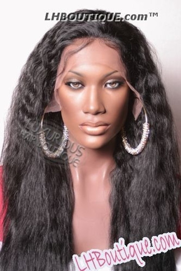 Iris Remy Wet & Wavy Round Lace Wig - Faith 24