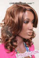 Fashion Source Synthetic Hair Wig - Ana Marie side
