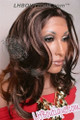 Feel Free Synthetic Lace Front Wig Model Side 2