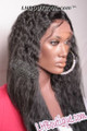 Iris Remy Wet & Wavy Round Lace Wig - Faith 24 side