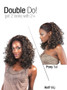 Isis Collection Premium Synthetic Half Wig + Pony Tail TP 28