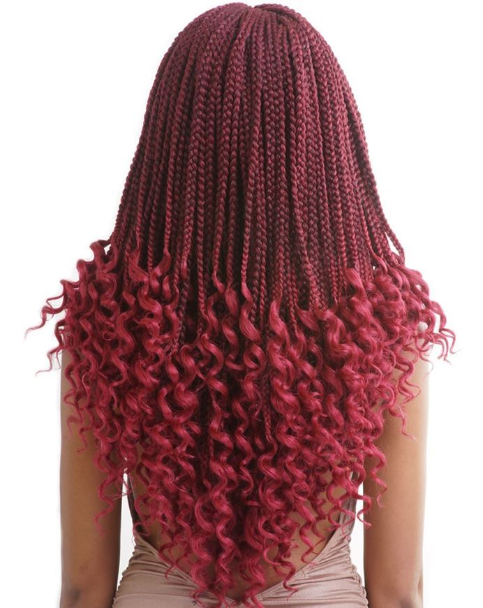 Mane Concept Pre Looped Crochet Box Braids Curly Ends 18