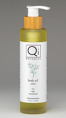 150ml bottle Qi Botanics body oil.jpg