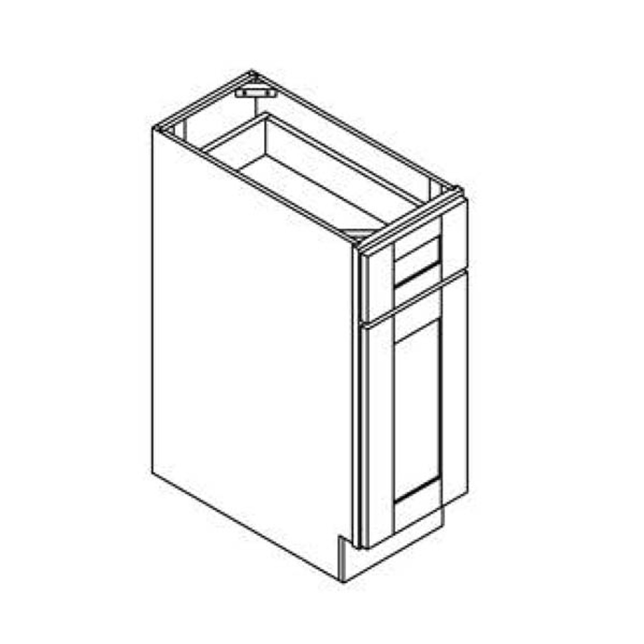 12 Inch Base Cabinet   White   Soft Close   Ready to Assemble