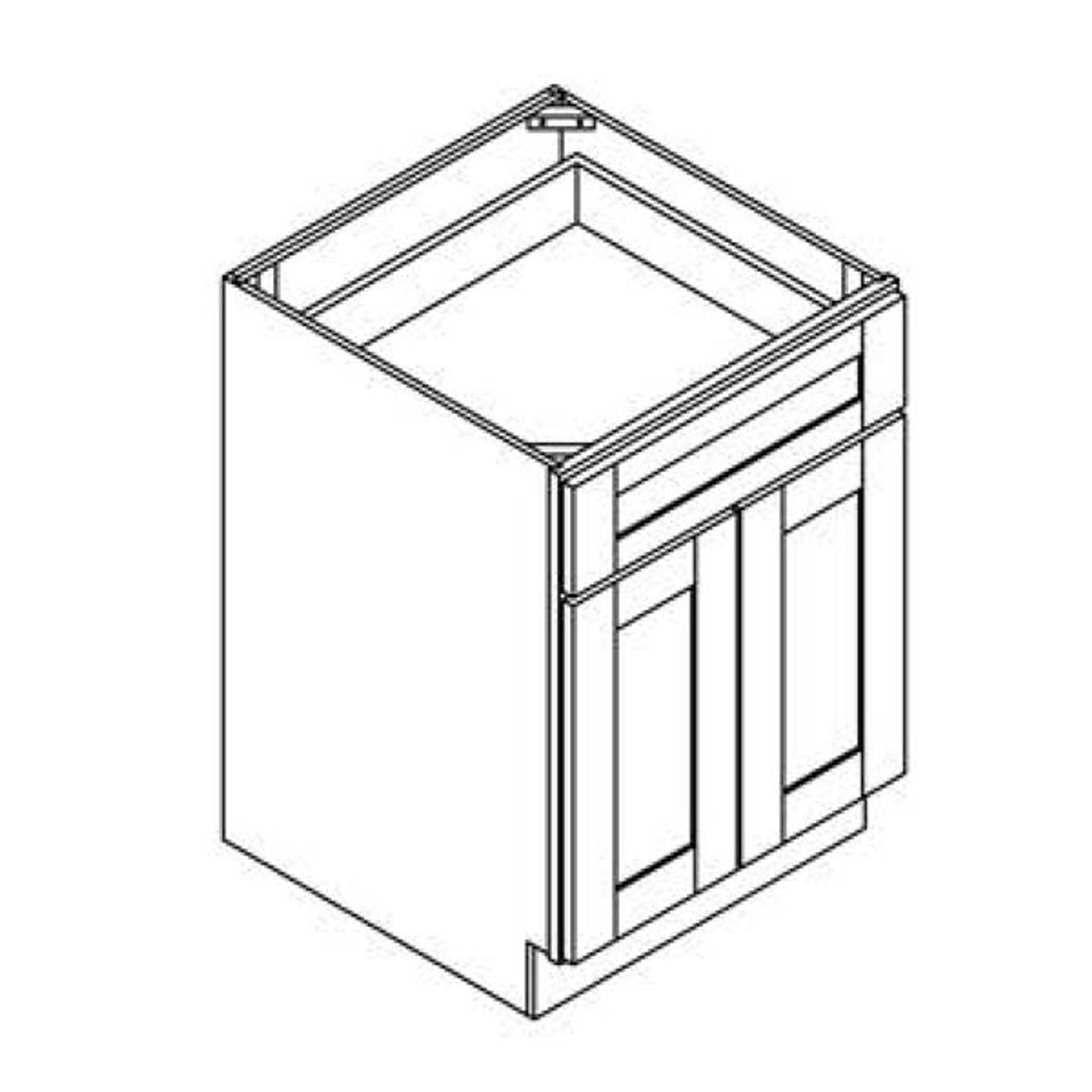 24 Inch Base Cabinet | Grey | Soft Close | Ready to Assemble