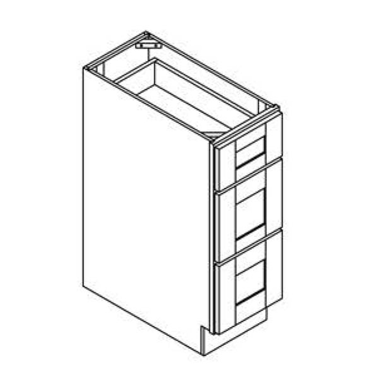 18 Inch Drawer Bank Cabinet | White | Soft Close | Ready to Assemble