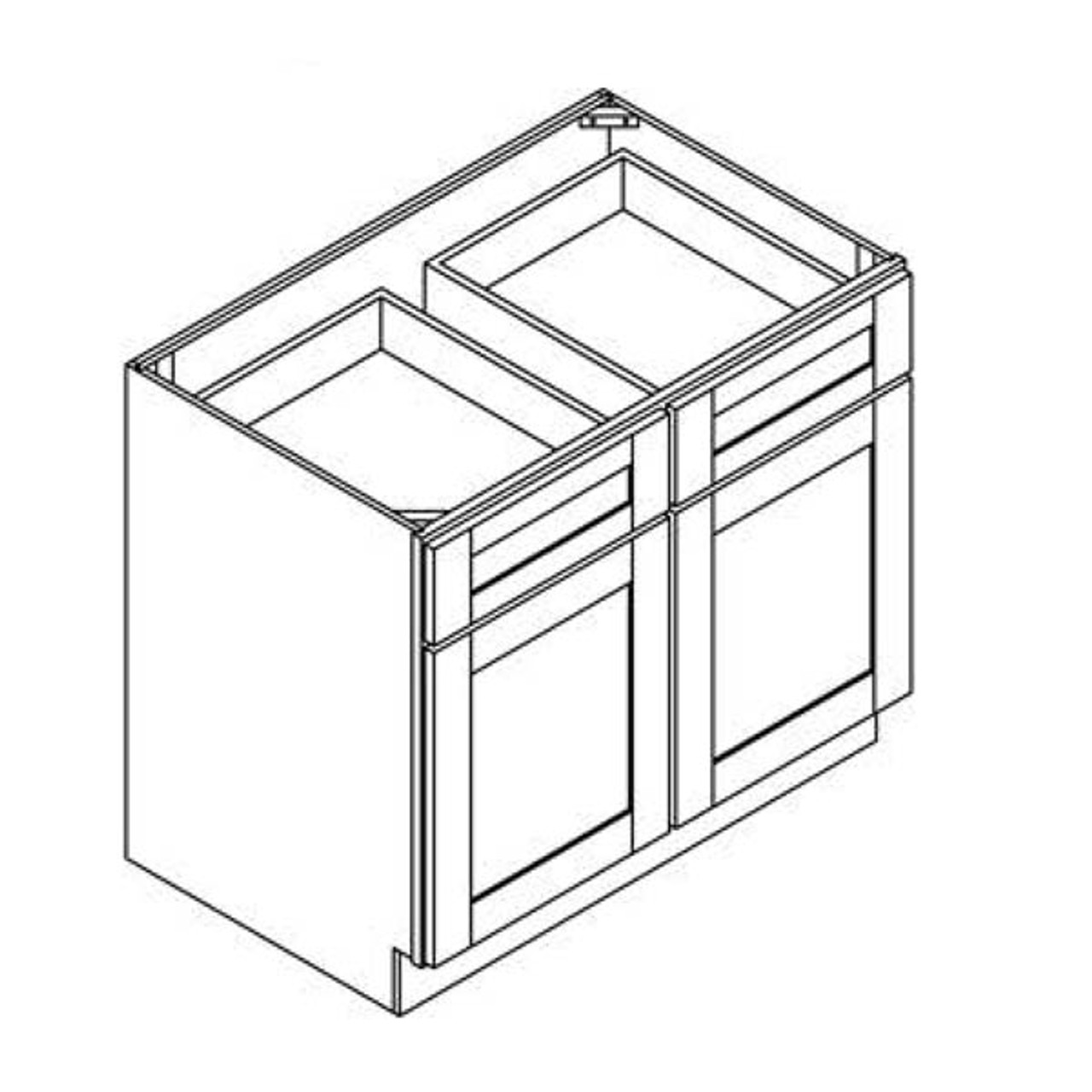 36 Inch Base Cabinet   Grey   Soft Close   Ready to Assemble