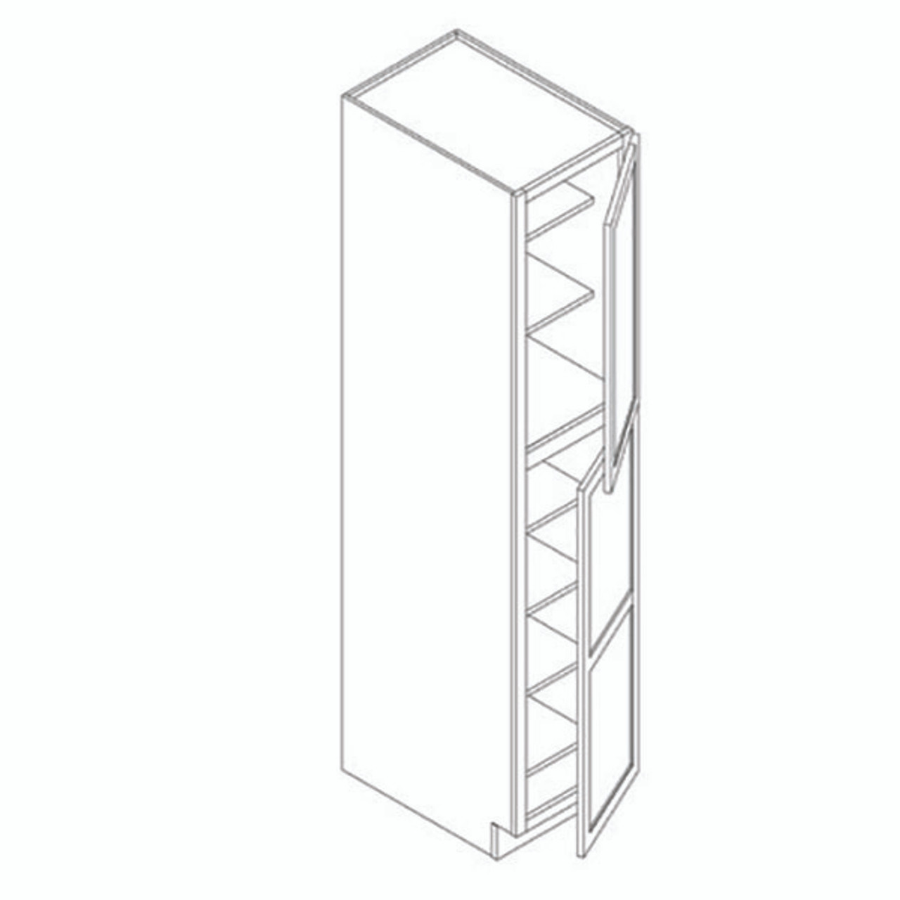 18 Inch x 84 Inch Pantry Cabinet | Grey | Soft Close | Ready to Assemble