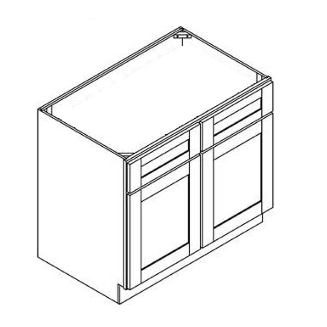 36 Inch Sink Base Cabinet | Grey | Soft Close | Ready to Assemble
