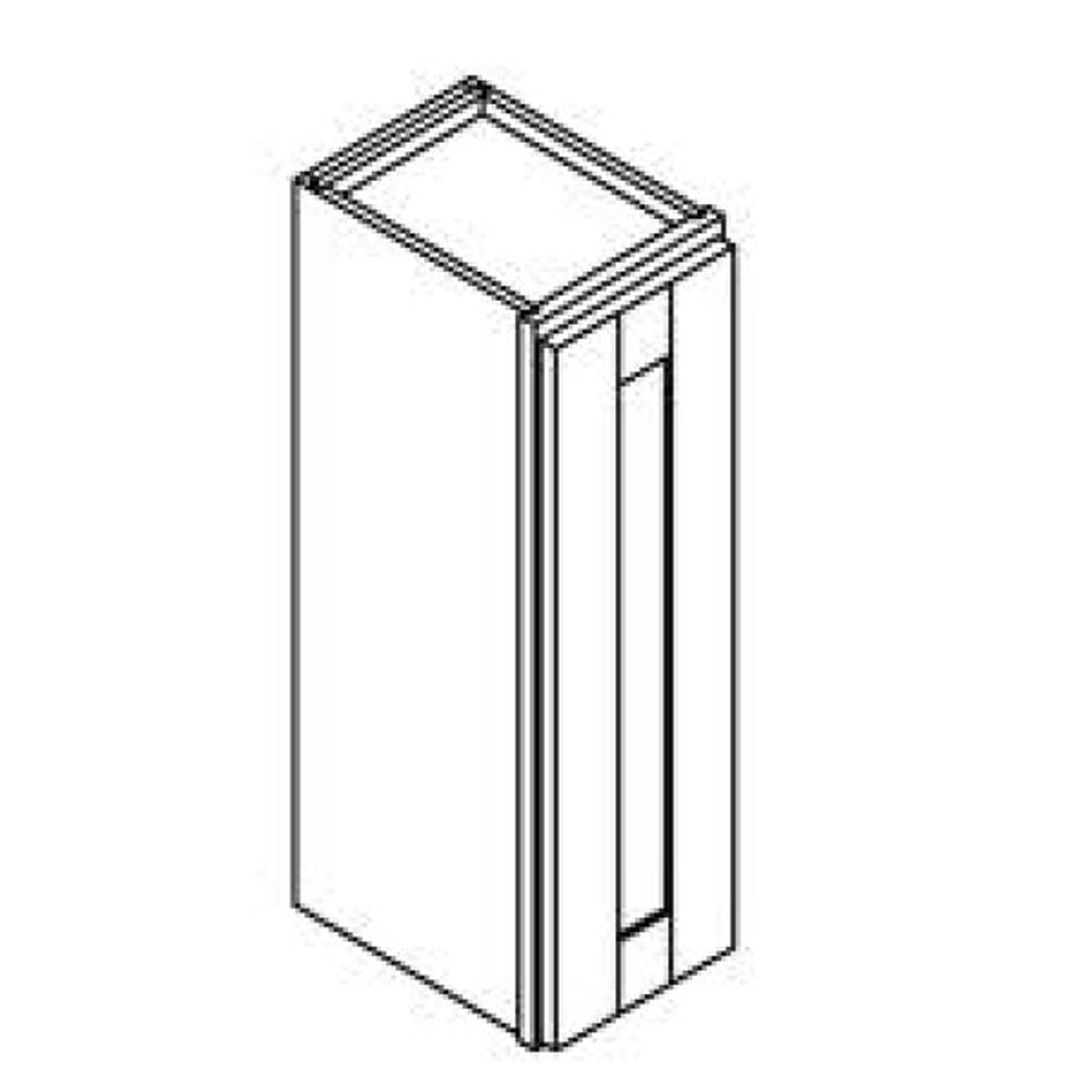 12 Inch x 30 Inch Wall Cabinet   Grey   Soft Close   Ready to Assemble
