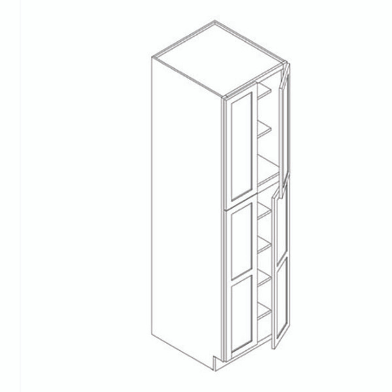 24 Inch x 84 Inch Pantry Cabinet | Grey | Soft Close | Ready to Assemble