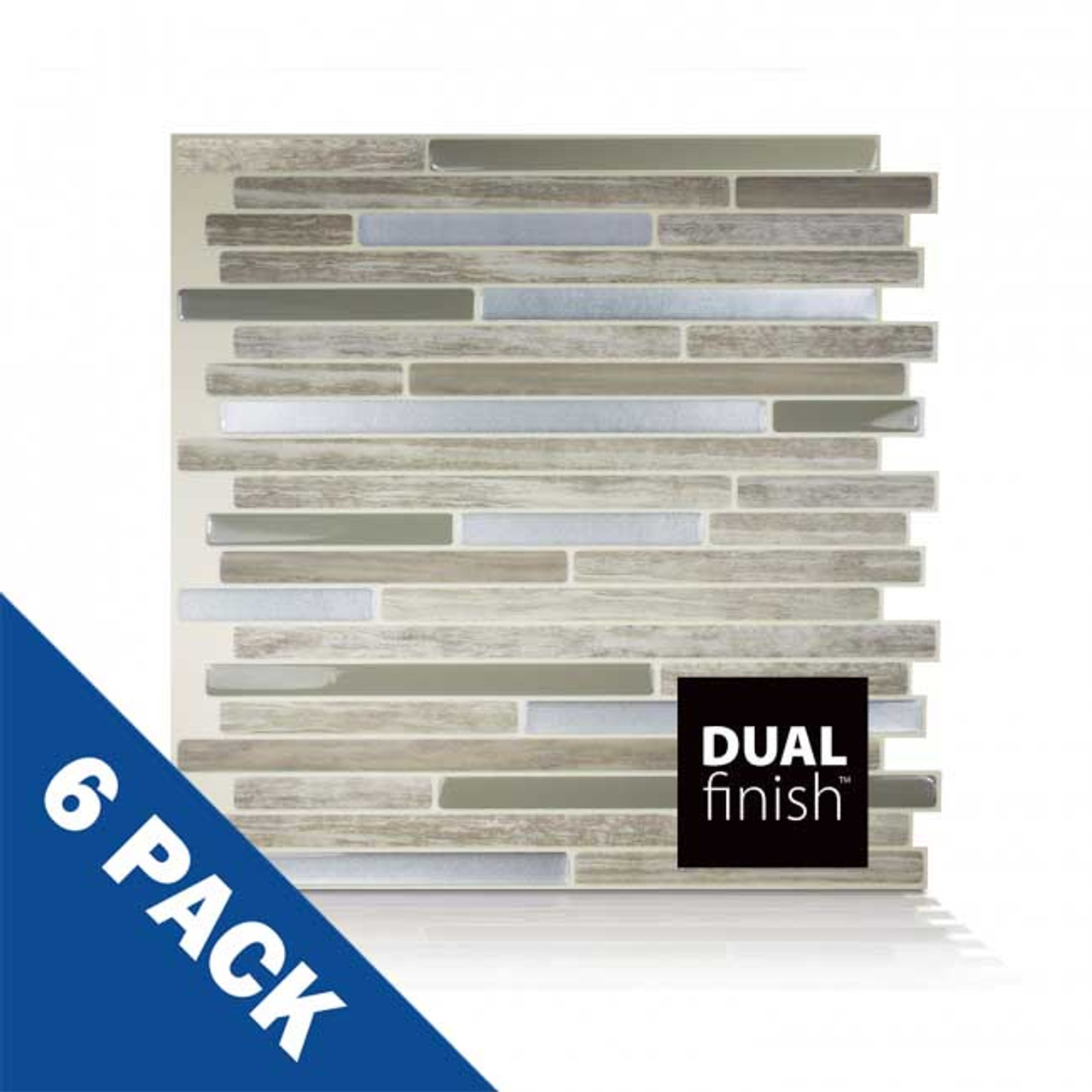 Capri Taupe Smart Tile   6 Pack   SM1069-6