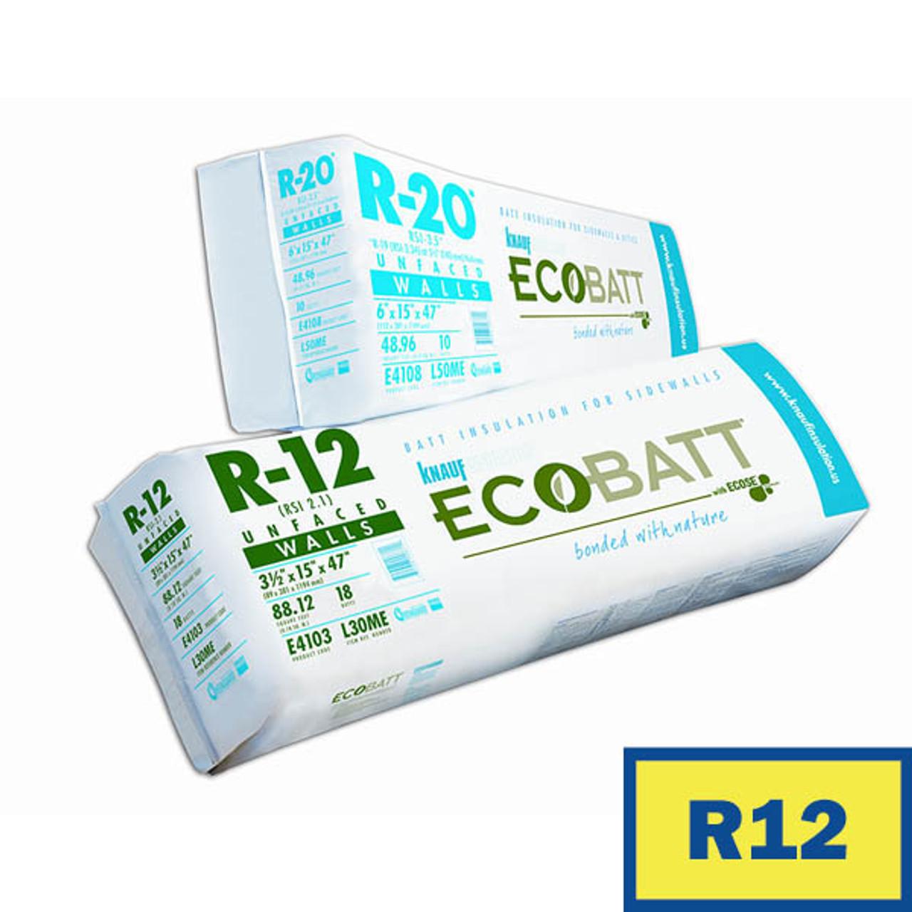 Knauf ECOBATT Insulation | R12 x 15 | 127.29 Sq.Ft. Per Bundle