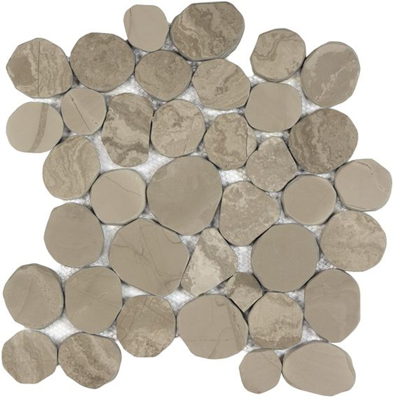 Spellbinder Pebble Mosaic Natural Stone Marble Tile | Sold by the Tile