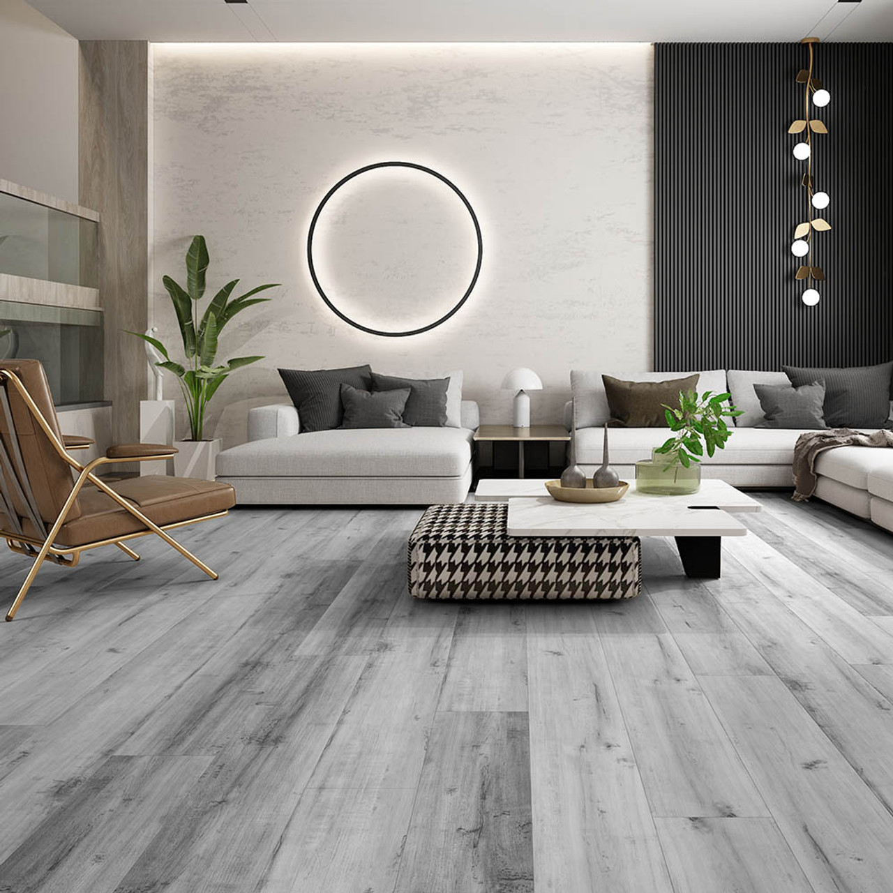 5.5mm Whistler Vinyl Click Flooring   Includes 1mm Attached Underlay   Stone Product Core (SPC)   30.14 Sq.Ft. Per Box   Sold by the Box