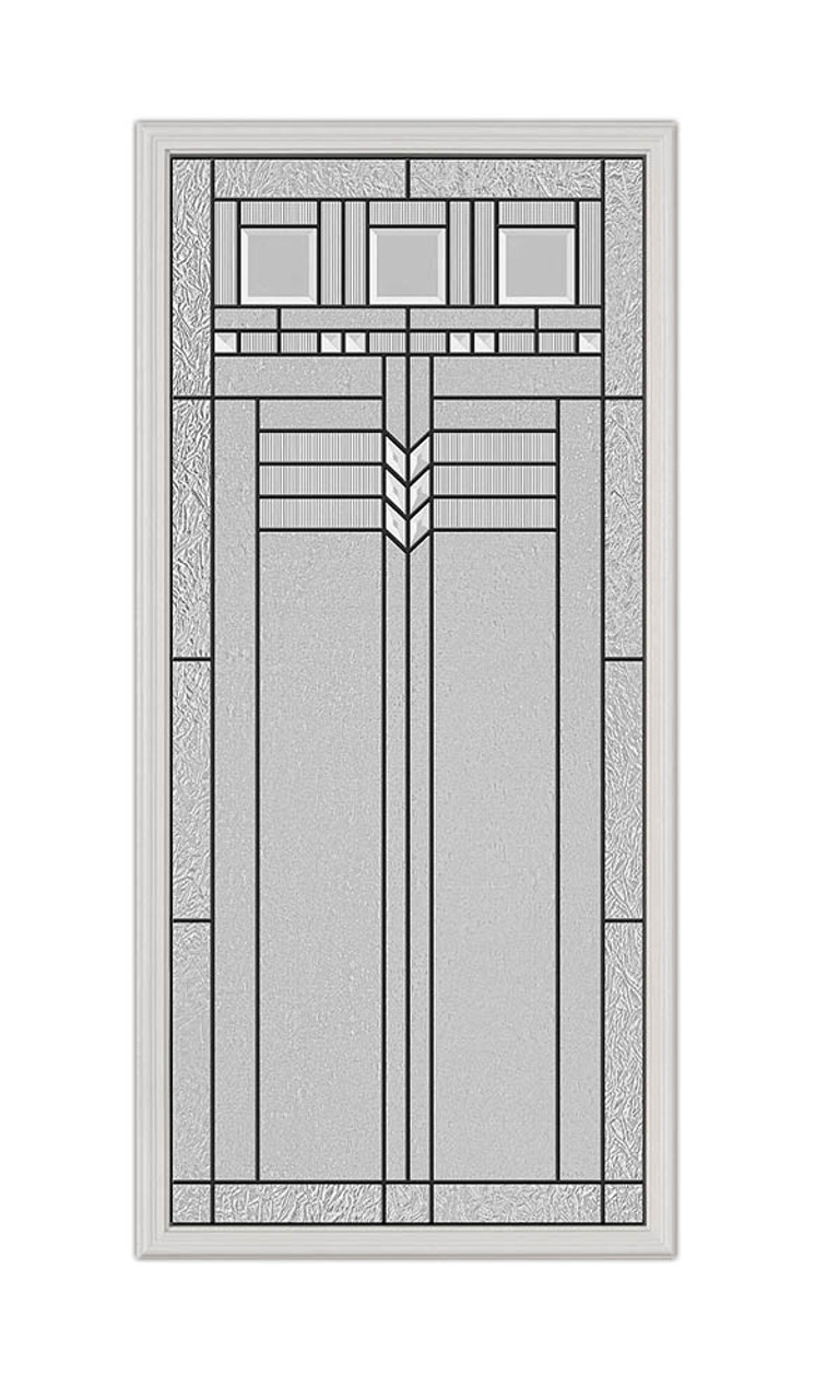 22x48 Oak Park Patina Exterior Door Insert | 3077