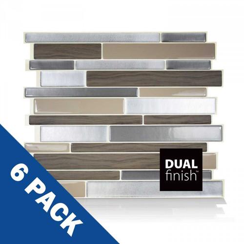 Milano Lino Smart Tile   6 Pack   SM1048-6