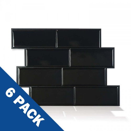 Metro Nero Smart Tile | 6 Pack | SM1079-6