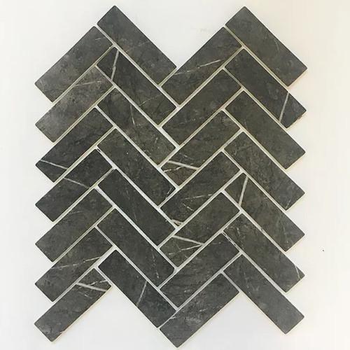 Enamel Herring Bone Marmara Mosaic Tile | Sold by the Tile