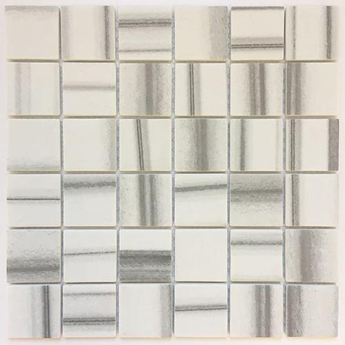 2x2 Enamel Gris Pulpis Mosaic Tile | Sold by the Tile