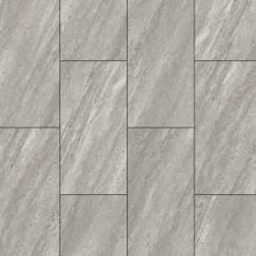 5.2mm Stonewear+ Grey Silt Vinyl Click Flooring | Stone Product Core (SPC) | Includes 1mm Attached Underpad | 23.25 Sq.Ft. Per Box | Sold by the Box