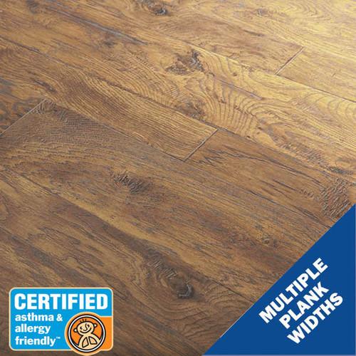 12MM Ridgeway Hickory Gold Laminate Flooring | 23.82 Sq.Ft. Per Box | Sold by the Box