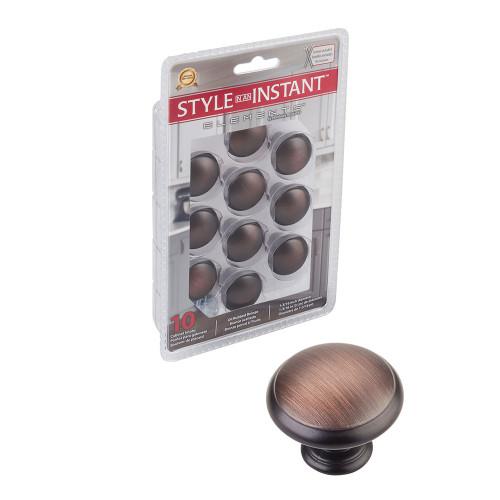 1'' Gatsby Oil Rubbed Bronze Mushroom Cabinet Knob | 10 Pack | 3940-DBAC-R