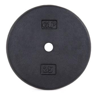 25 lb CAP Standard Cast Iron Plate, Black