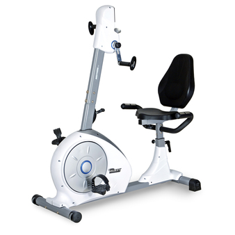 Velocity Exercise Dual Motion Recumbent Bike, Angled View