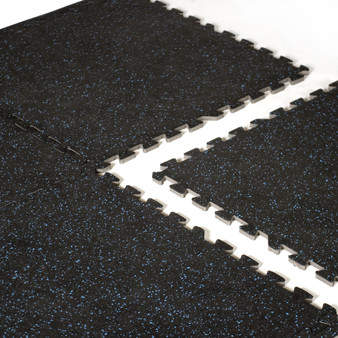 CAP 6-Piece Foam Tile Flooring with Recycled Rubber Top