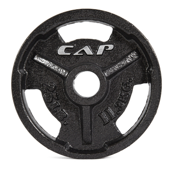 25 lb CAP Olympic Cast Iron Grip Plate, Black