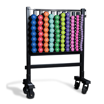 CAP Neoprene Coated Dumbbell Set and Storage Rack