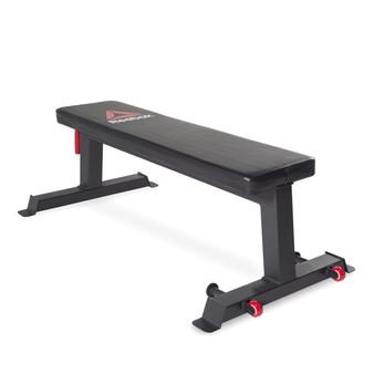 Reebok Pro Flat Training Bench, angled view