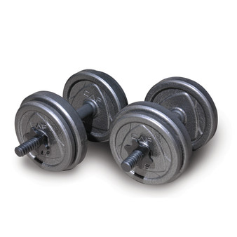 CAP Adjustable Cast Iron Dumbbell Set