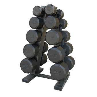CAP 150 lb Dumbbell Set with Rack, black