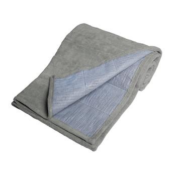 Gray Folded Tone Fitness Machine Washable Terry Cloth Yoga Mat