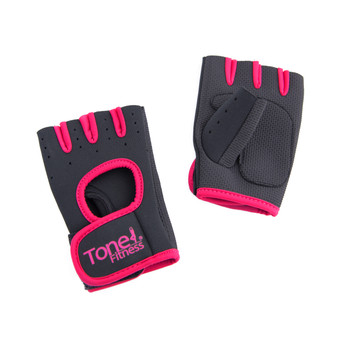 Tone Fitness Pink Weightlifting Gloves, Pair