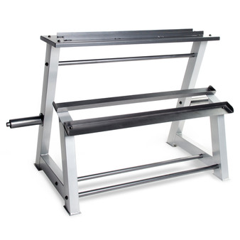 CAP Fitness Accessories Metal Storage Rack, angled view