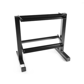 20 inch CAP 2-Tier Dumbbell Rack, angled view