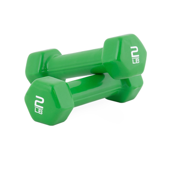 Tone Fitness Vinyl Dumbbells, 2 lb Pair stacked