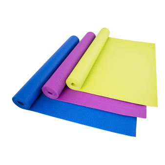 Cap Eco-Friendly Solid Color Pvc Yoga Mat (3Mm) With Carry Sling