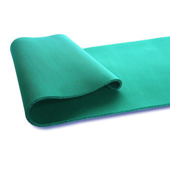 Tone Fitness Extra Thick High Density Exercise / Yoga Mat, with Carrying Strap Teal (MT-TN6523TS)