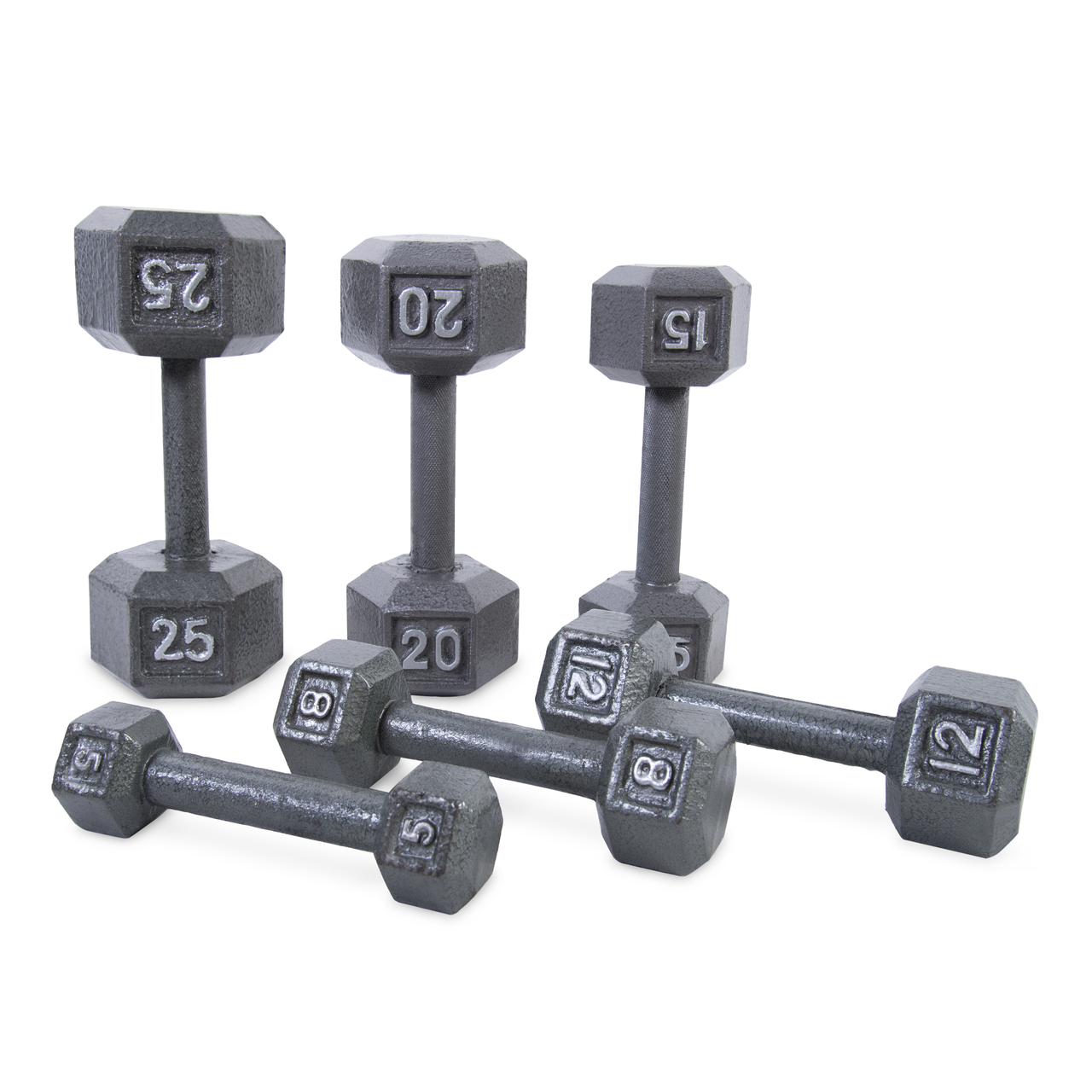 20 Pound Hex Dumbbell Strength Training Upper Body Cast Iron Knurled Handle Grip