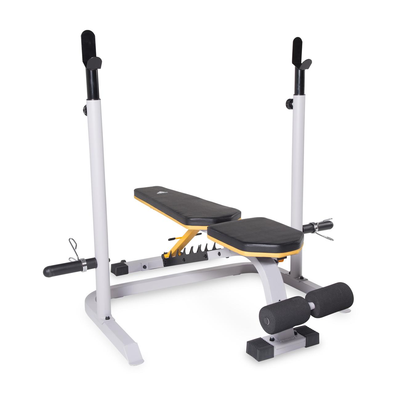 Banquete Bailarín Injerto  adidas Sport Adjustable Training Bench with Squat Rack (FM-AD714S-RK)