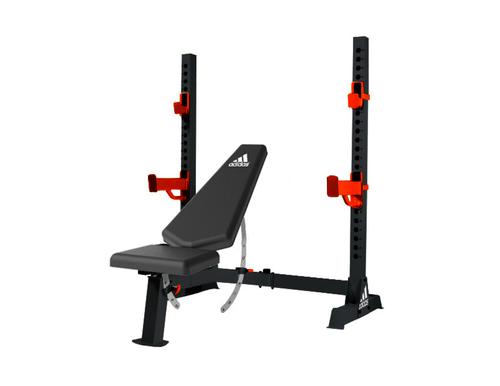 ropa Astrolabio Pakistán  adidas Sport Adjustable Training Bench with Squat Rack FM AD714S RK