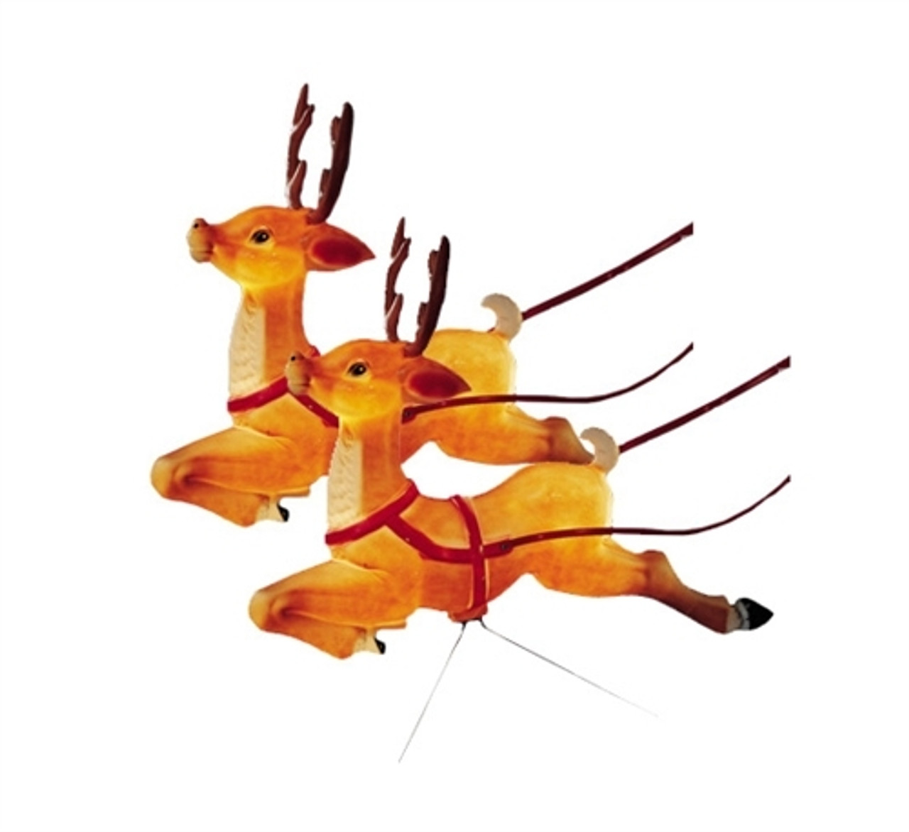 Set Of 2 Reindeer Lighted Blow Mold Decorations C6490